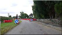 TL0394 : Three-way road works in Woodnewton by Jonathan Billinger