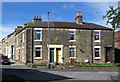 NZ2029 : Bishop Auckland - houses at junction of Russell Street and West Road by Dave Bevis