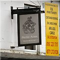 SJ8798 : Sign of Derby Arms by Gerald England