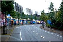 J3274 : Belfast - Peace Wall along Cupar Way by Joseph Mischyshyn