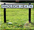 TL9941 : Hadleigh Heath sign by Adrian Cable