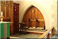 TQ4686 : All Saints, Goodmayes - Sedilia by John Salmon
