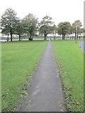 SE0823 : Footpath across Savile Park - viewed from Savile Park by Betty Longbottom