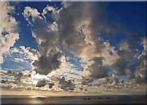 SW3125 : Sunset over Longships lighthouse from Land's End by Steve  Fareham