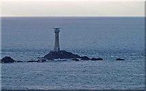 SW3125 : Longships lighthouse from Land's End by Steve  Fareham