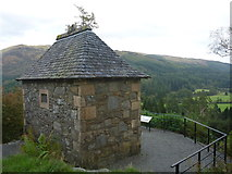 NS1385 : Benmore Botanic Garden : The Memorial Shelter At The Top Of The Garden by Richard West