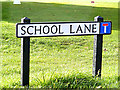 TL9140 : School Lane sign by Adrian Cable