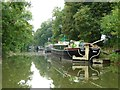 SU1461 : Moored residential boats alongside the towpath by Christine Johnstone