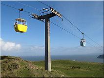 SH7783 : Cable-car pylon by Jonathan Wilkins