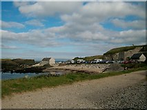 D0345 : The Cafe, Car Park, and Lime Kiln at Ballintoy by Eric Jones