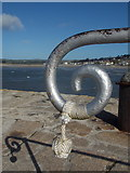 SW5130 : St. Michael's Mount: end of a harbour railing by Chris Downer
