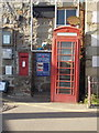 SW4626 : Mousehole: postbox № TR19 122 and phone by Chris Downer