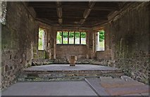 SJ5415 : The interior of the chapter house, Haughmond Abbey, near Haughton, Shrops by P L Chadwick