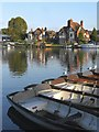 SU8486 : Moorings at Higginson Park, Marlow by Stefan Czapski