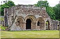SJ5415 : Chapter House (front), Haughmond Abbey, near Haughton, Shrops by P L Chadwick