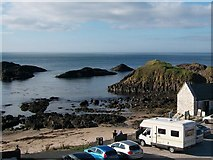 D0345 : Small sandy beach west of the Ballintoy Harbour Cafe by Eric Jones