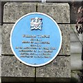 SJ8398 : Blue plaque: William Temple by Gerald England