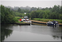 TG2608 : Small harbour, River Yare by N Chadwick
