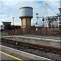 ST1875 : Recently repainted  former water tower, Cardiff Central railway station by Jaggery