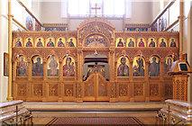 TQ2876 : St Bartholomew, (now St Nectarios), Battersea - Iconostasis by John Salmon