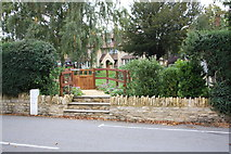 SU2489 : Entrance to Milestone House, Longcot Road by Roger Templeman