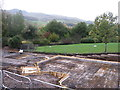 NT2467 : Foundations at Lothianburn by M J Richardson