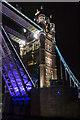 TQ3380 : Tower Bridge Opening, London SE1 by Christine Matthews