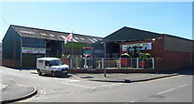 SO4382 : NE corner of the Morris Corfield depot, Craven Arms by Jaggery