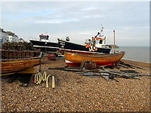 TR3752 : Sailing Vessels on Deal Beach by Chris Heaton