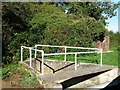 SU6570 : Footbridge over the bywash, Garston Lock [no 102] by Christine Johnstone
