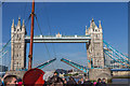 TQ3380 : Tower Bridge Closing by Christine Matthews