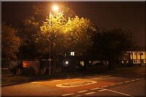 SJ3999 : Waddicar Lane, Melling, at night by Mike Pennington
