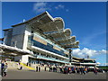 TL6262 : The Millennium Grandstand at Newmarket by Richard Humphrey