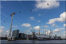 TQ3980 : Cable Car over The Thames, Greenwich by Christine Matthews