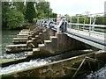 SU7778 : Footbridge across the large weir at Shiplake Lock by Christine Johnstone