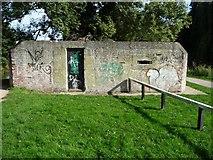SU6570 : Pillbox alongside the towpath at Garston Lock by Christine Johnstone