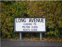 TM3763 : Long Avenue sign by Adrian Cable