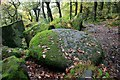 SK2579 : Millstone in Padley Gorge by Graham Hogg