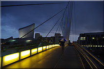 SJ8097 : Media City Footbridge, Salford by Ian Taylor