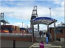 NS2776 : Pedestrian Entrance to Greenock Ocean Terminal, Greenock by Terry Robinson
