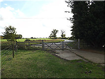 TM3667 : Entrance of Corner Farm by Adrian Cable