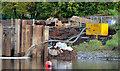J3371 : Cofferdam, River Lagan, Stranmillis, Belfast by Albert Bridge