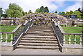 TQ6039 : Terrace and steps by N Chadwick