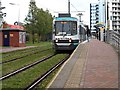 SJ8097 : Harbour City Tram Stop by David Dixon
