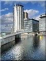 SJ8097 : Footbridge to MediaCityUK by David Dixon