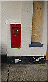 TM3863 : Railway Station Victorian Postbox at Saxmundham Railway Station by Adrian Cable