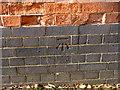 SK5538 : Bench mark, Abbey Street bridge by Alan Murray-Rust