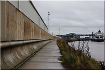 TA1228 : The riverside path east towards King George Dock by Ian S