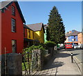 SH5760 : Colourful High Street houses in Llanberis by Jaggery