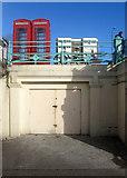 TQ3103 : K6 Telephone boxes, Madeira Drive by Simon Carey